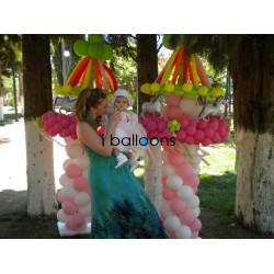 Μπαλόνια βάπτισης καρουζέλ για κορίτσι στην Πετρούπολη Μπαλόνια Βάπτισης Special