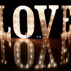 Letter Lights LOVE ΦΩΤΕΙΝΑ ΓΡΑΜΜΑΤΑ ΓΑΜΟΥ