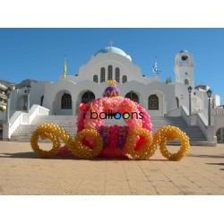 Ειδική κατασκευή Άμαξα μπαλονιών, για βάπτιση, στην Ηλιούπολη Μπαλόνια Βάπτισης Special